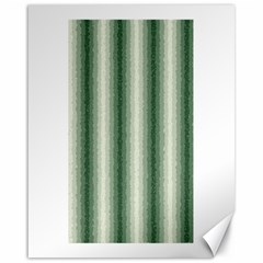 Dark Green Curly Stripes Canvas 16  x 20  (Unframed)