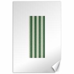 Dark Green Curly Stripes Canvas 24  X 36  (unframed)