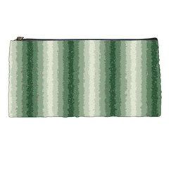Dark Green Curly Stripes Pencil Case