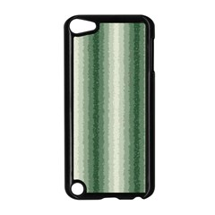 Dark Green Curly Stripes Apple iPod Touch 5 Case (Black)