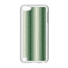 Dark Green Curly Stripes Apple iPod Touch 5 Case (White)