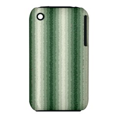 Dark Green Curly Stripes Apple iPhone 3G/3GS Hardshell Case (PC+Silicone)