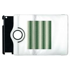 Dark Green Curly Stripes Apple iPad 3/4 Flip 360 Case
