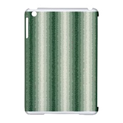 Dark Green Curly Stripes Apple iPad Mini Hardshell Case (Compatible with Smart Cover)