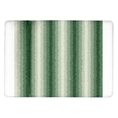 Dark Green Curly Stripes Samsung Galaxy Tab 10.1  P7500 Flip Case