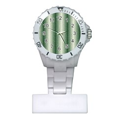 Dark Green Curly Stripes Nurses Watch