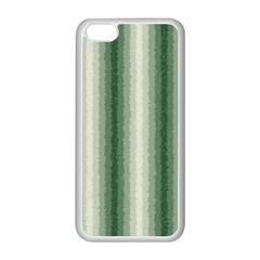 Dark Green Curly Stripes Apple iPhone 5C Seamless Case (White)