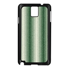 Dark Green Curly Stripes Samsung Galaxy Note 3 N9005 Case (Black)
