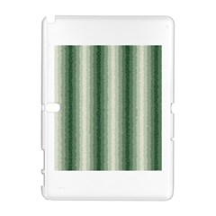 Dark Green Curly Stripes Samsung Galaxy Note 10.1 (P600) Hardshell Case