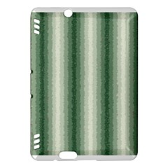 Dark Green Curly Stripes Kindle Fire HDX Hardshell Case