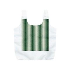 Dark Green Curly Stripes Reusable Bag (S)