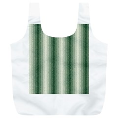 Dark Green Curly Stripes Reusable Bag (XL)