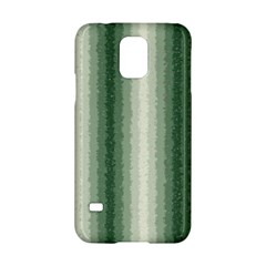 Dark Green Curly Stripes Samsung Galaxy S5 Hardshell Case