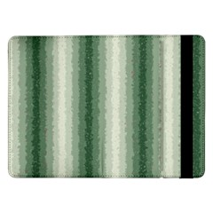 Dark Green Curly Stripes Samsung Galaxy Tab Pro 12.2  Flip Case