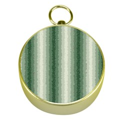 Dark Green Curly Stripes Gold Compass