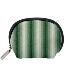 Dark Green Curly Stripes Accessory Pouch (small)