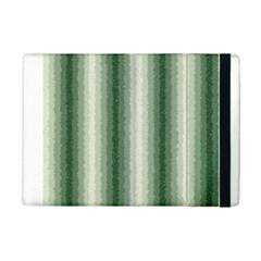 Dark Green Curly Stripes Apple iPad Mini 2 Flip Case