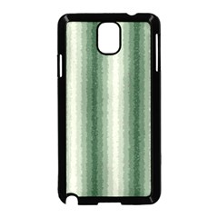 Dark Green Curly Stripes Samsung Galaxy Note 3 Neo Hardshell Case (Black)