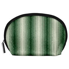 Dark Green Curly Stripes Accessory Pouch (Large)