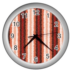Native American Curly Stripes   1 Wall Clock (silver)