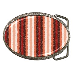 Native American Curly Stripes - 1 Belt Buckle (Oval)