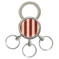 Native American Curly Stripes   1 3 Ring Key Chain