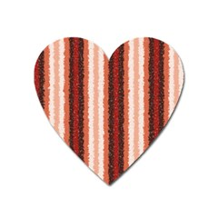Native American Curly Stripes   1 Magnet (heart)