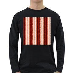 Native American Curly Stripes - 1 Men s Long Sleeve T-shirt (Dark Colored)