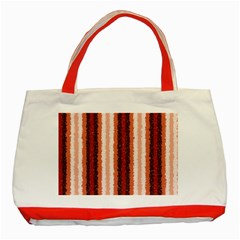 Native American Curly Stripes - 1 Classic Tote Bag (Red)