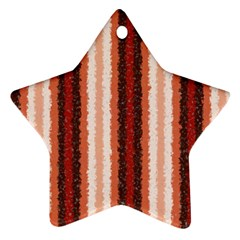 Native American Curly Stripes - 1 Star Ornament (Two Sides)