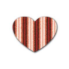 Native American Curly Stripes - 1 Drink Coasters (Heart)