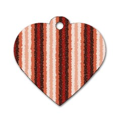 Native American Curly Stripes - 1 Dog Tag Heart (One Sided)