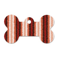 Native American Curly Stripes - 1 Dog Tag Bone (Two Sided)