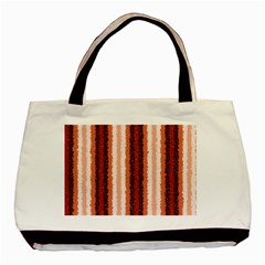 Native American Curly Stripes - 1 Twin-sided Black Tote Bag