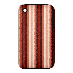 Native American Curly Stripes - 1 Apple iPhone 3G/3GS Hardshell Case (PC+Silicone)