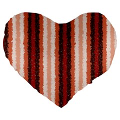 Native American Curly Stripes - 1 19  Premium Heart Shape Cushion