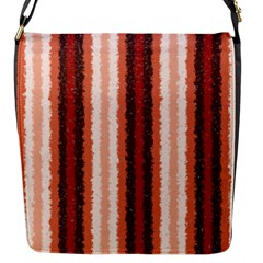 Native American Curly Stripes - 1 Flap Closure Messenger Bag (Small)
