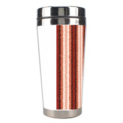 Native American Curly Stripes - 1 Stainless Steel Travel Tumbler