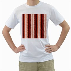 Native American Curly Stripes   1 Men s T Shirt (white)