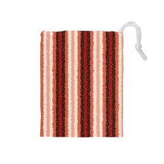 Native American Curly Stripes - 1 Drawstring Pouch (Medium)