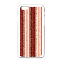 Native American Curly Stripes - 1 Apple iPhone 6 White Enamel Case