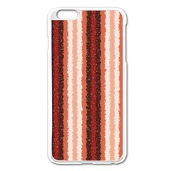 Native American Curly Stripes   1 Apple Iphone 6 Plus Enamel White Case