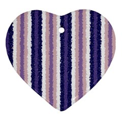 Native American Curly Stripes   2 Heart Ornament
