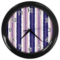 Native American Curly Stripes   2 Wall Clock (black)