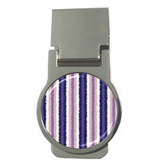 Native American Curly Stripes   2 Money Clip (round)