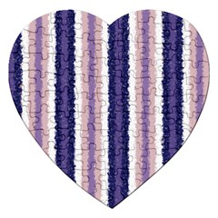 Native American Curly Stripes   2 Jigsaw Puzzle (heart)