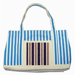 Native American Curly Stripes - 2 Blue Striped Tote Bag