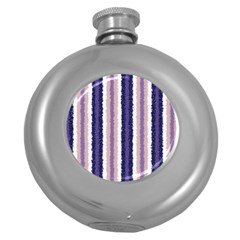 Native American Curly Stripes   2 Hip Flask (round)