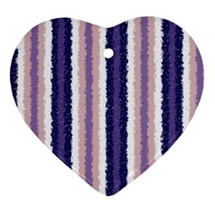Native American Curly Stripes   2 Heart Ornament (two Sides)