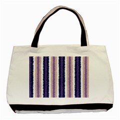 Native American Curly Stripes - 2 Twin-sided Black Tote Bag